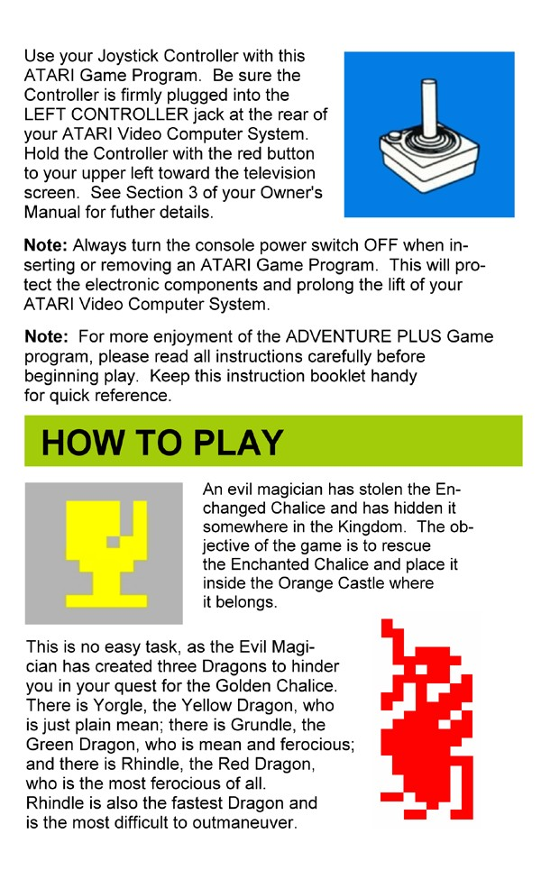 Atariage Atari 2600 Hacks Adventure Plus