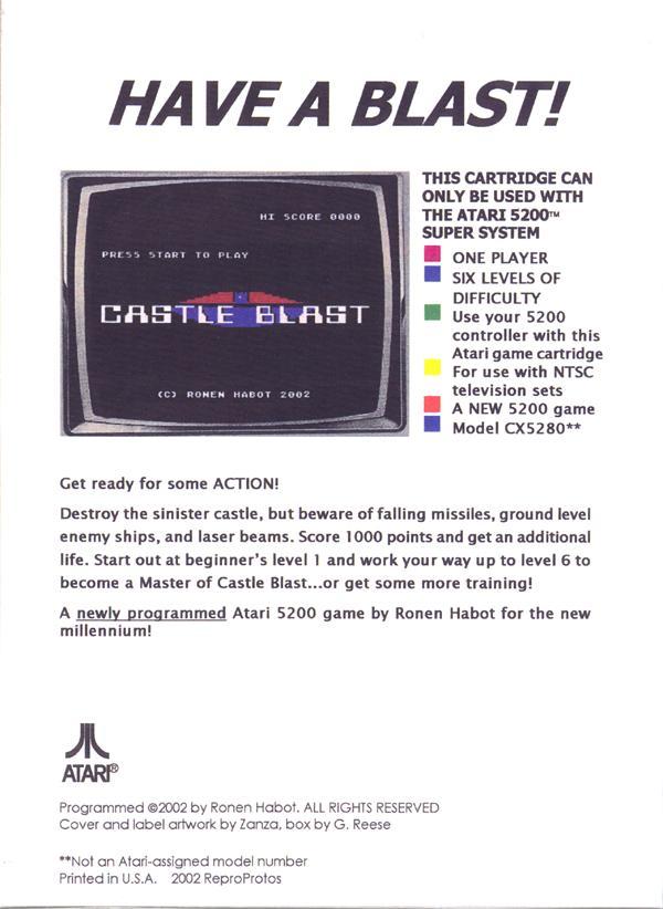 Castle Blast - Box Back