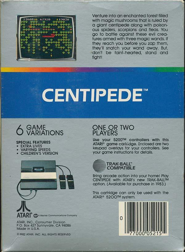 Centipede - Box Back