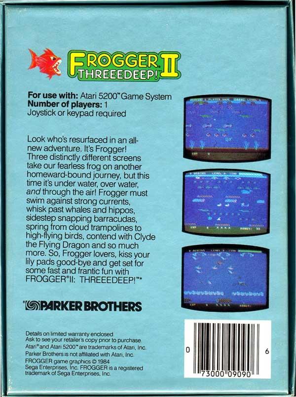 Frogger II: Threeedeep! - Box Back