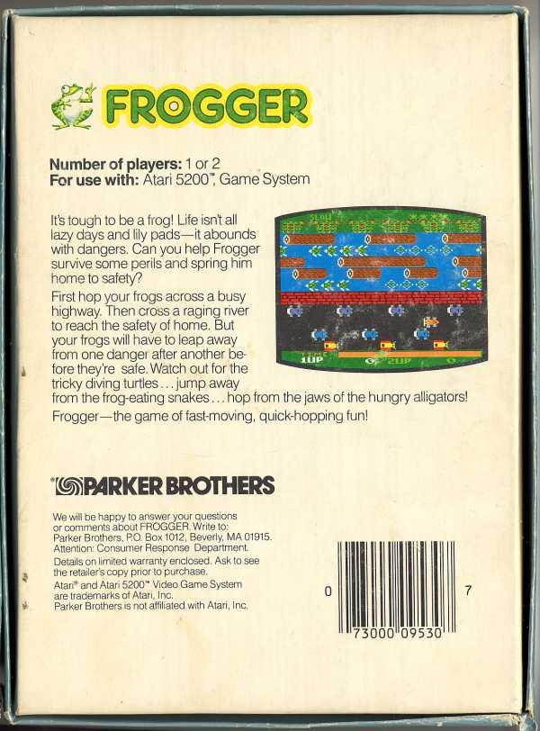 Frogger - Box Back