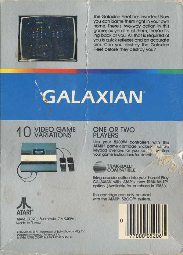Galaxian - Box Back