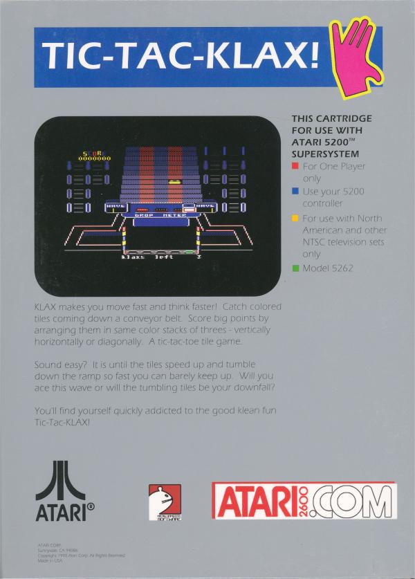 KLAX - Box Back