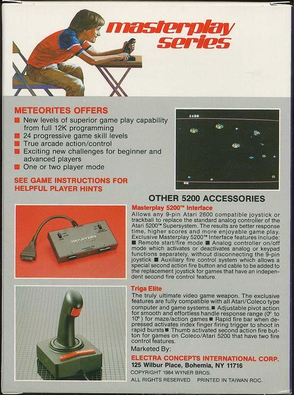 Meteorites - Box Back