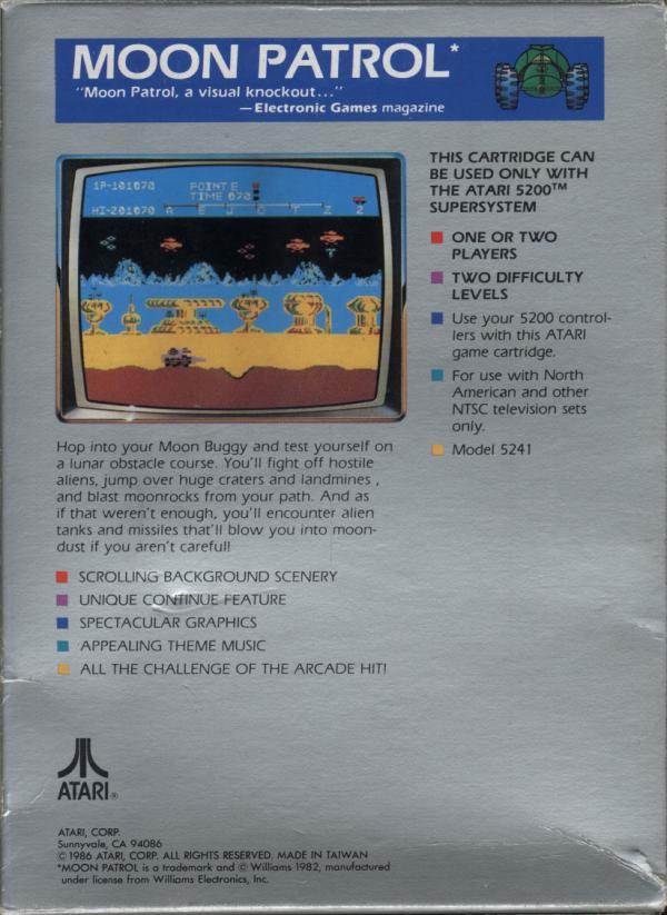 Moon Patrol - Box Back