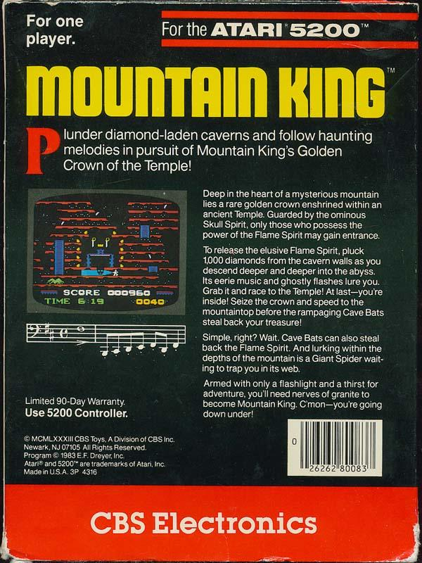 Mountain King - Box Back