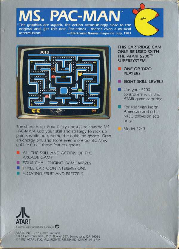 Ms. Pac-Man - Box Back