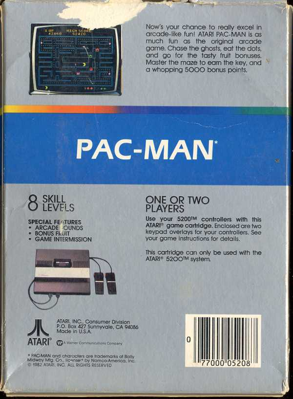 Pac-Man - Box Back