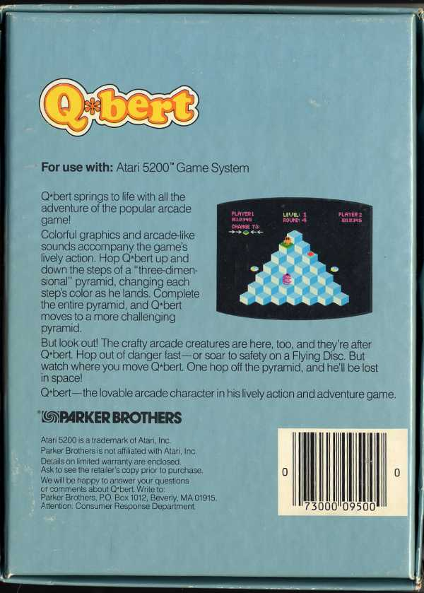 Q*bert - Box Back