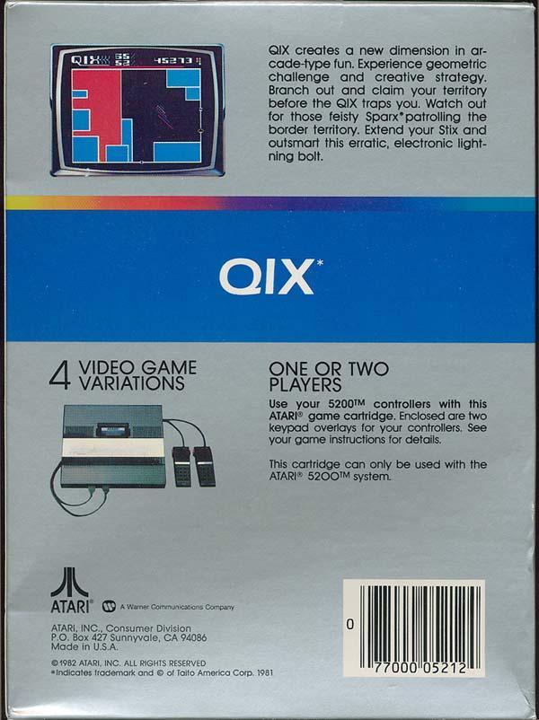 Qix - Box Back