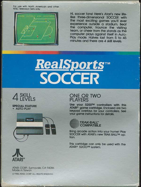 Realsports Soccer - Box Back