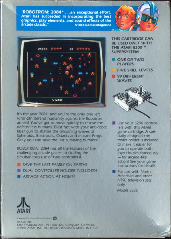 Robotron: 2084 - Box Back