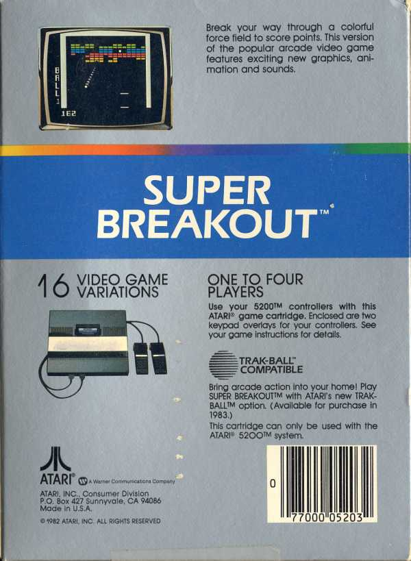 Super Breakout - Box Back