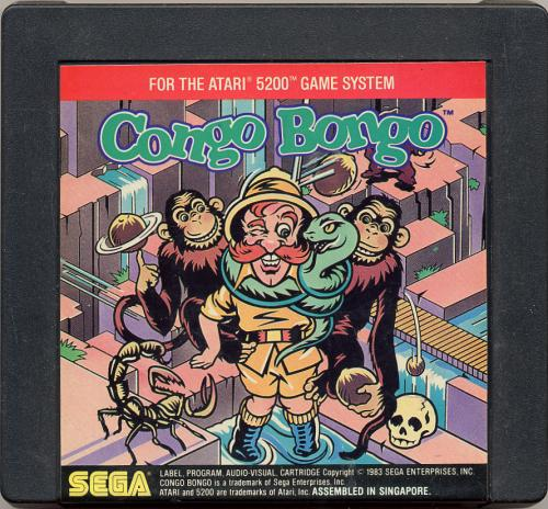 Congo Bongo - Cartridge Scan