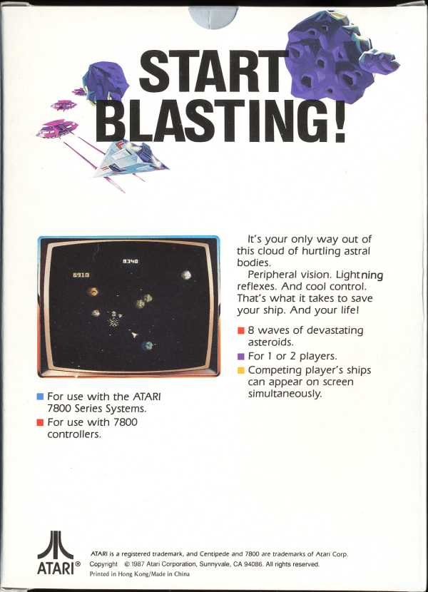 Asteroids - Box Back