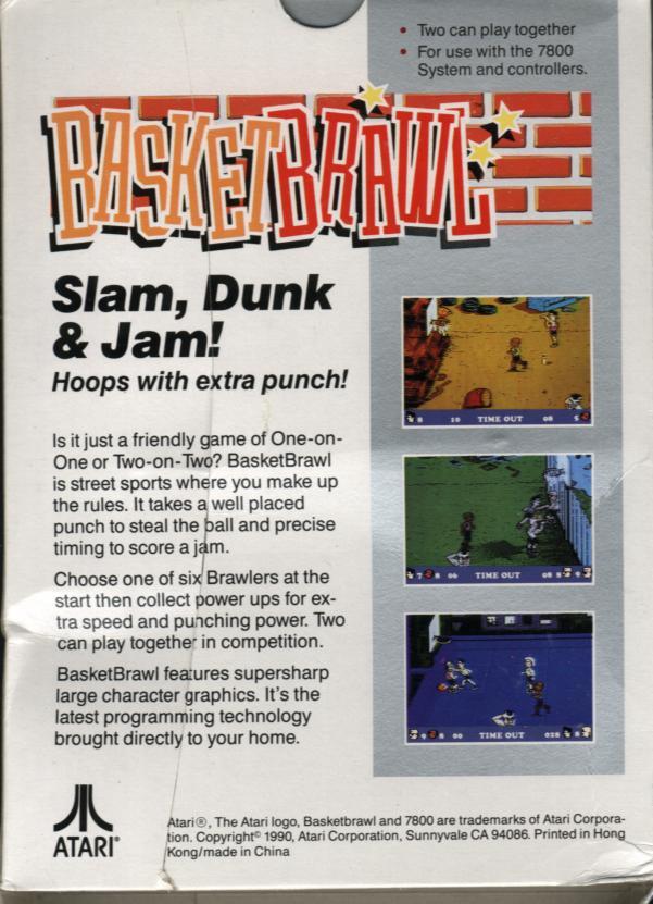 Basketbrawl - Box Back
