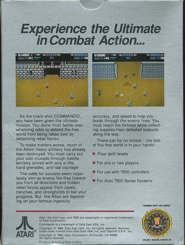 Commando - Box Back
