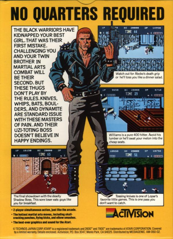 Double Dragon - Box Back