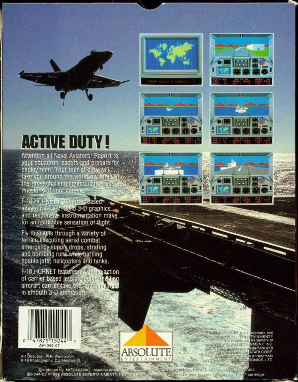 F-18 Hornet - Box Back
