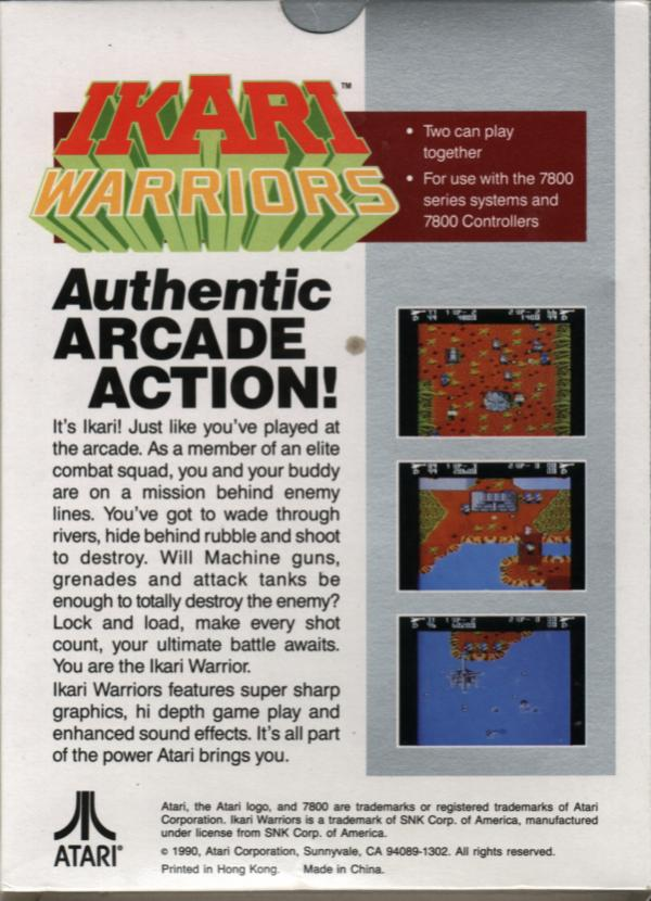 Ikari Warriors - Box Back
