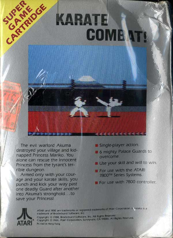 Karateka - Box Back