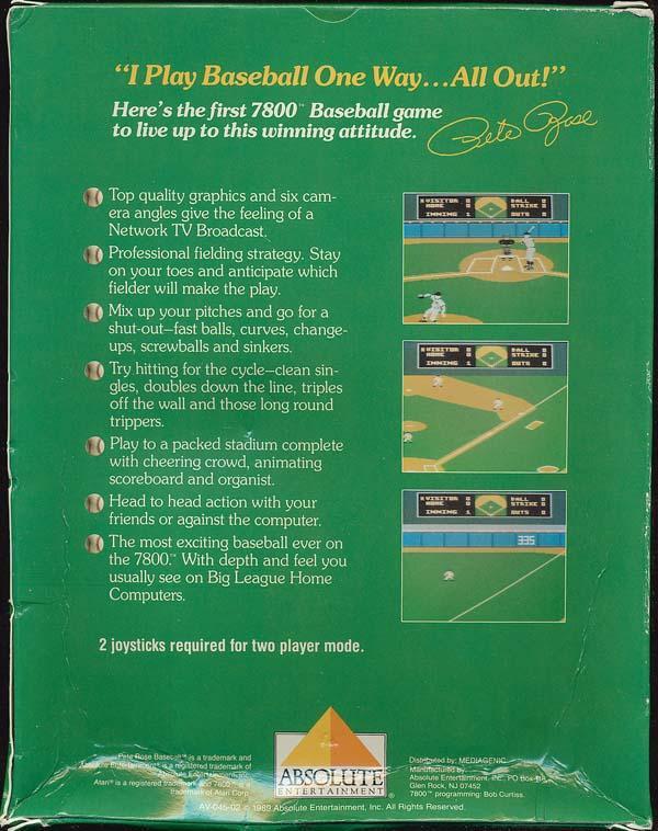 Pete Rose Baseball - Box Back