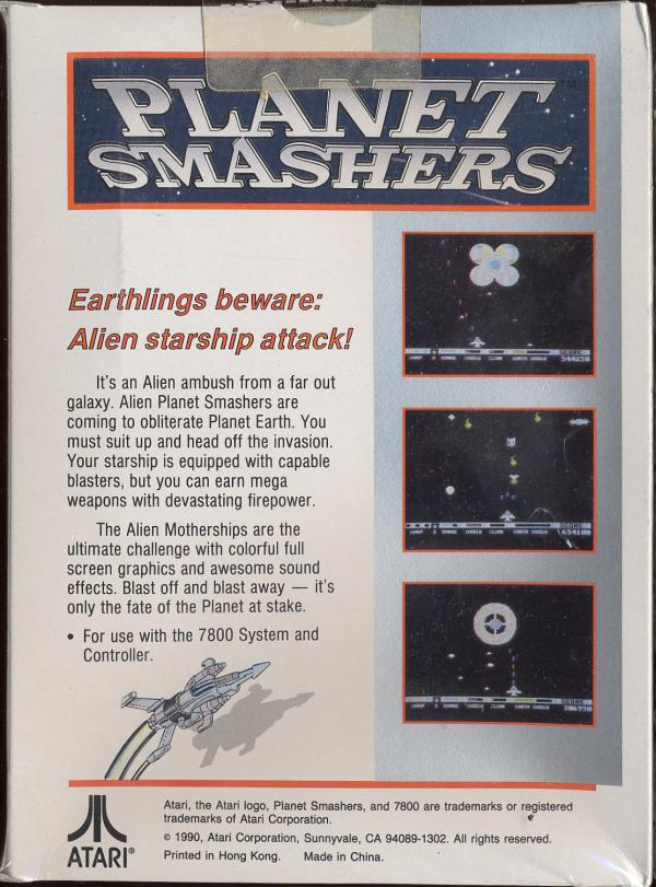 Planet Smashers - Box Back