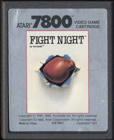 Fight Night - Cartridge Scan