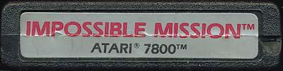 Impossible Mission - Cartridge Scan