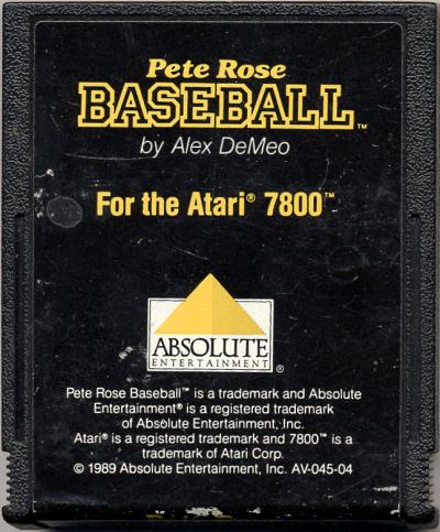 Pete Rose Baseball - Cartridge Scan