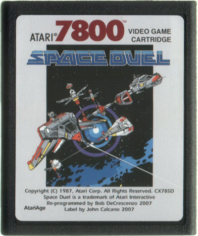 Space Duel - Cartridge Scan