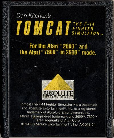 Tomcat: The F-14 Fighter Simulator - Cartridge Scan