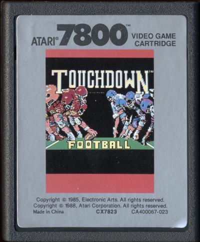 Touchdown Football - Cartridge Scan