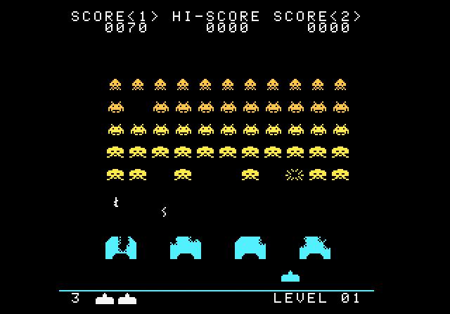 Atariage Atari 7800 Screenshots Space Invaders Self