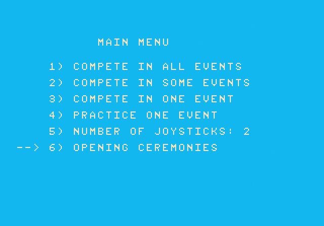 Winter Games - Screenshot