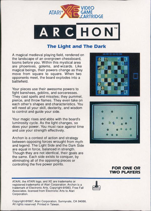 Archon - Box Back