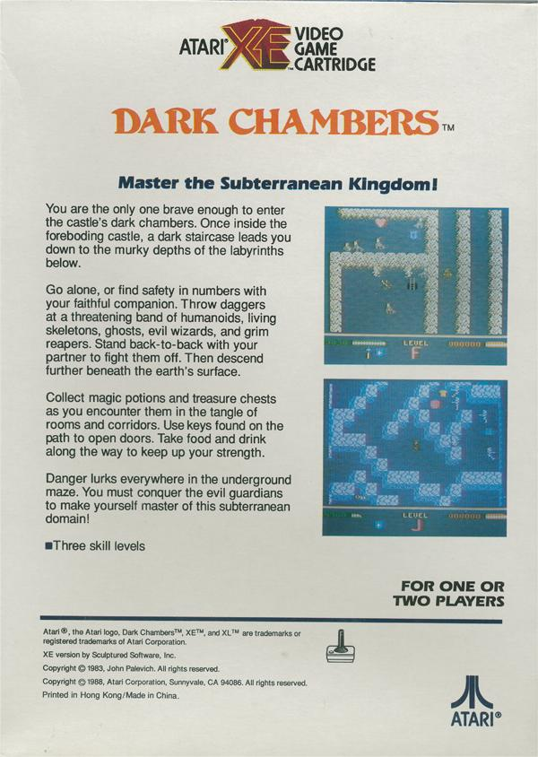 Dark Chambers - Box Back