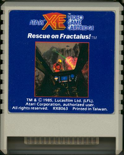 Rescue on Fractalus - Cartridge Scan