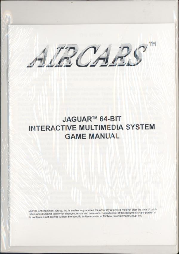 Air Cars - Box Back