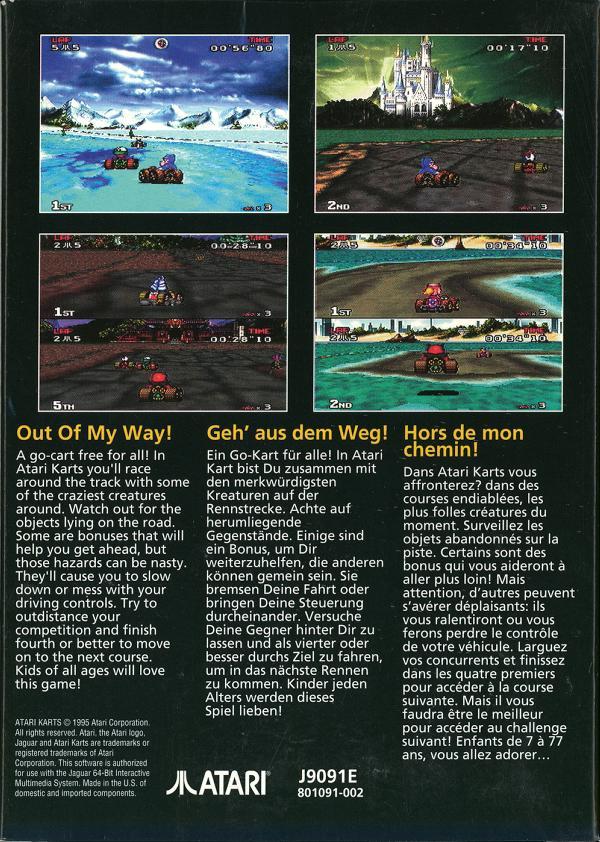 Atari Karts - Box Back
