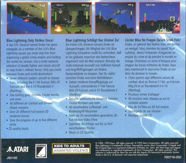 Blue Lightning - Box Back
