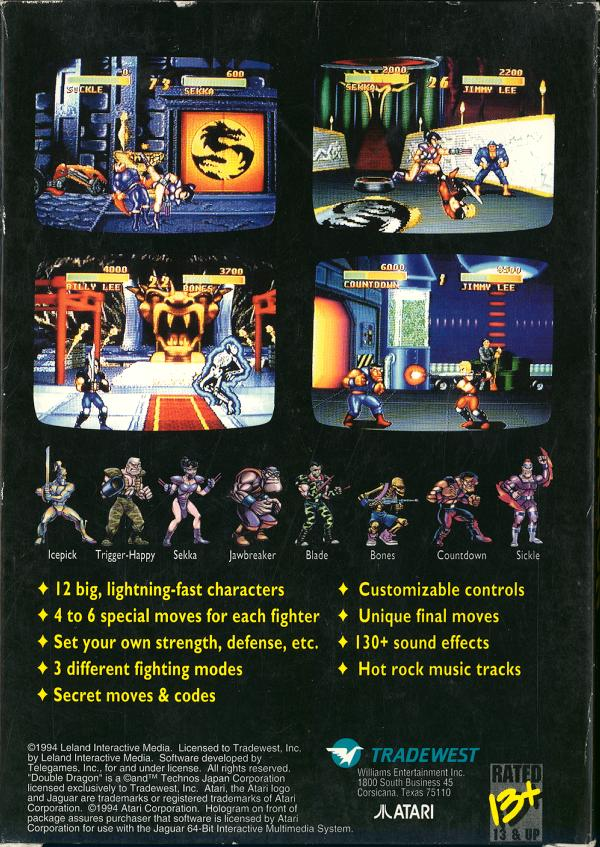 Double Dragon V - Box Back