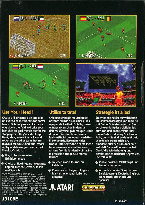Fever Pitch Soccer - Box Back