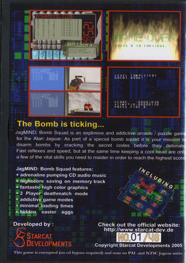 JagMIND: Bomb Squad - Box Back