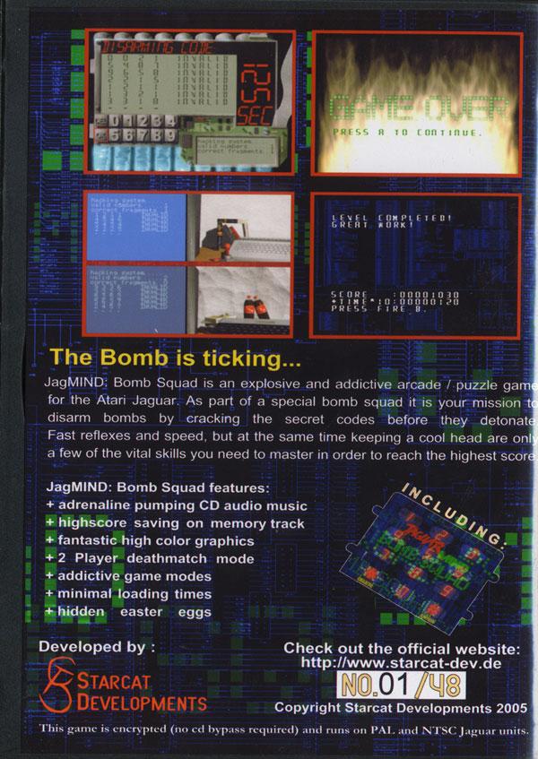 JagMIND: Bomb Squad - Box Back