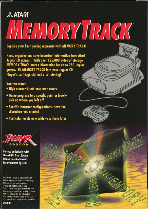 Memory Track - Box Back