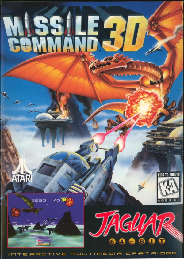 Missile Command 3D - Box Front