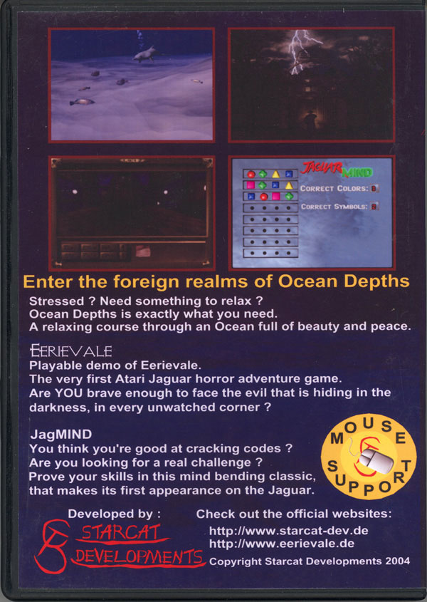 Ocean Depths - Box Back