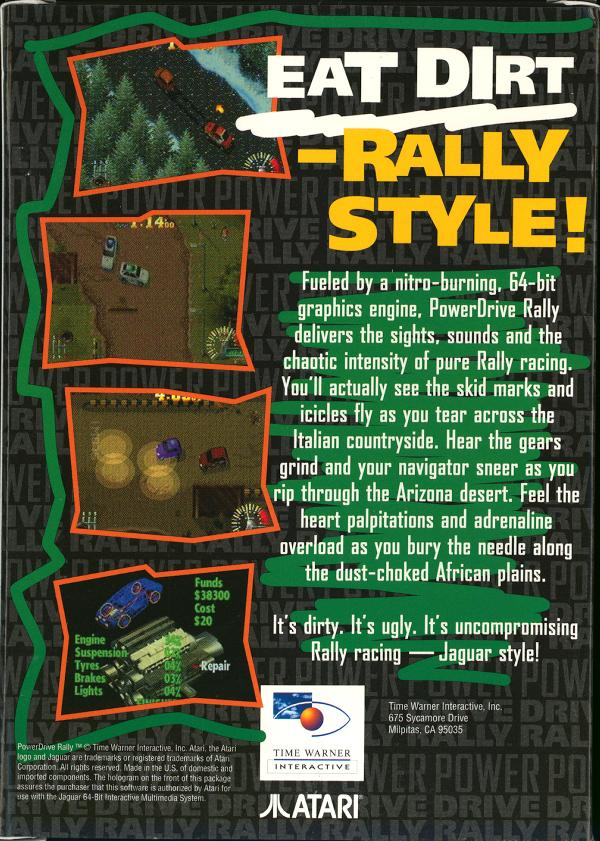 Power Drive Rally - Box Back
