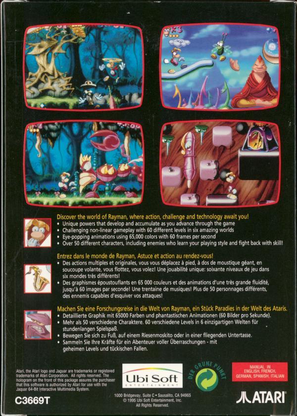 AtariAge - Atari Jaguar Boxes - Rayman (Ubi Soft)